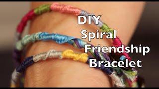 DIY Friendship Bracelet   Easy Spiral Tutorial