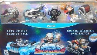 Skylanders Superchargers Dark Edition Starter Pack Unboxing Wii U