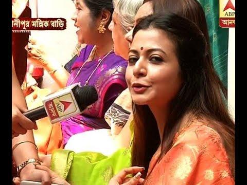 Koel Mallick celebrates Durgapuja at home