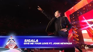 Sigala - 'Give Me Your Love' FT. J. Newman - (Live At Capital's Jingle Bell Ball 2017)