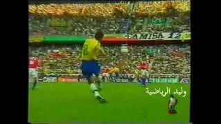 البرازيل 4 : 1 تشيلي  كأس العالم 1998 م تعليق عربي