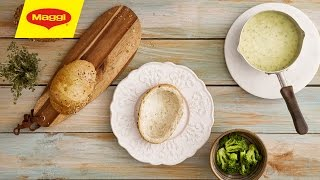 How to turn a bread loaf into bowl اشرب الشوربة في طبق العيش الدافىء