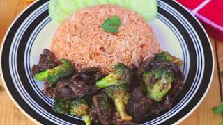 চাইনিজ বিফ উইথ ব্রকলি ও গার্লিক ফ্রাইড রাইস | Chinese Beef With Broccoli | Easy Garlic Fried Rice