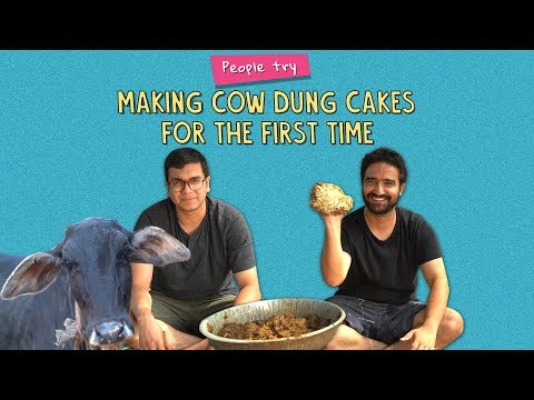 Xxx Mp4 People Try Making Cow Dung Cakes For The First Time Ft Kanishk Ok Tested 3gp Sex