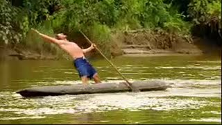 Standing in a Canoe - Last Man Standing - BBC Action challenge