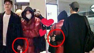 Song Joong Ki holding his Wife 💞back at Paris Airport, Sweet Couple #KikYo #SongSongCouple
