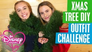 DISNEY CHANNEL VLOG | STUCK IN THE MIDDLE OUTFIT CHALLENGE | CHRISTMAS TREE DIY