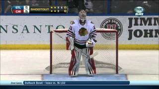 Full shootout Chicago Blackhawks vs St. Louis Blues 12/28/13 NHL Hockey