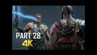 GOD OF WAR Gameplay Walkthrough Part 28 - GODS BOSS BATTLE (PS4 PRO 4K Commentary 2018)