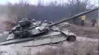 Russian tank T 90 [1000HP] stuck in the mud