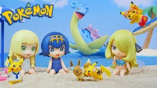 Pokemon Pikachu Seaside | Re-Ment Miniature collection | Unboxing Video