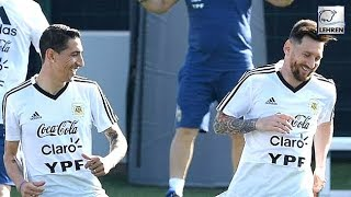 Lionel Messi & Argentina Team-Mates Double Training At Barcelona