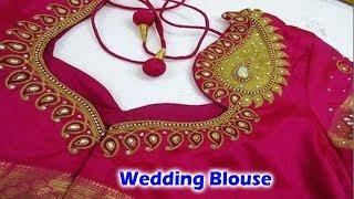 Wedding Blouse Cutting and Stitching | Making Video