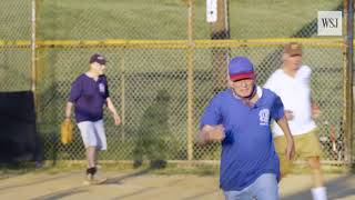 """The 86 year old softball player whose wife calls his team """"The Old Farts"""""""