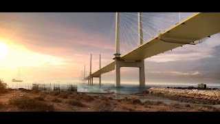 Persian Gulf Bridge and Kaveh Port_3D Animation_Part2