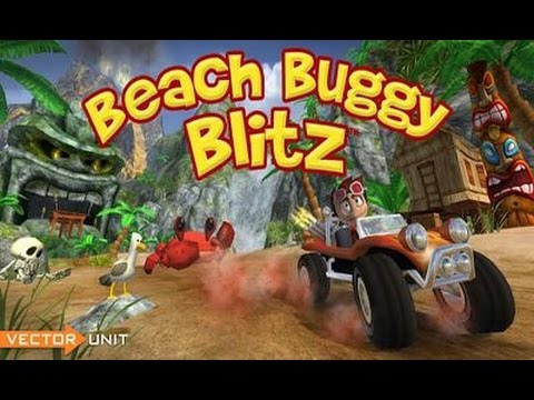 Play Beach Buggy Racing Coconut Cup Series First Stage And Collecting Money For Car Upgrade Lunar