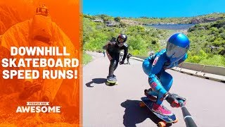 Downhill Skateboarding Speed Runs   People Are Awesome