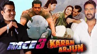 Salman Khan OPENS On RACE 3, Ajay Devgn & Salman's KARAN ARJUN Connection