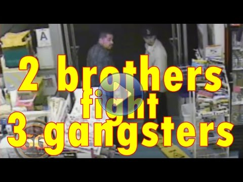 2 brothers fight off 3 gang members and get shot at in liquor store parking lot