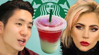 People Try The Lady Gaga Starbucks Drinks