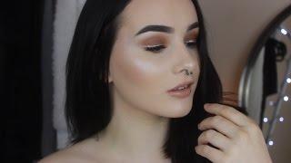 EASY Last Minute NYE Makeup Tutorial   Brown Smokey Eye w/ Glitter Liner