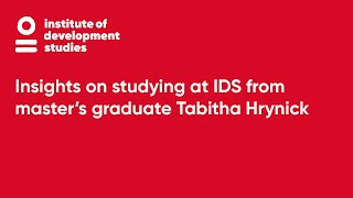 Insights On Studying At IDS From Master's Graduate Tabitha Hrynick