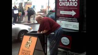 Fat man at Ottawa Ribfest