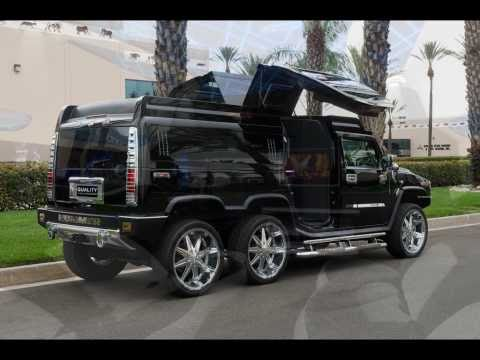 TANDEM AXLE HUMMER H2 LIMO CONVERSION BY QUALITY COACHWORKS LIMO LIMOUSINE