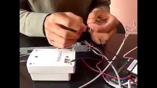 كيفية تركيب الفيديوفون و (اطلاق الباب la gâche électrique) بالدرجة المغربية