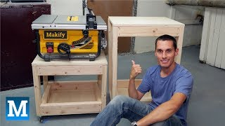 How to Make Table Saw and Work Carts