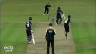 Mustafiz Just picked up his 4th wicket in his very first match for Sussex..