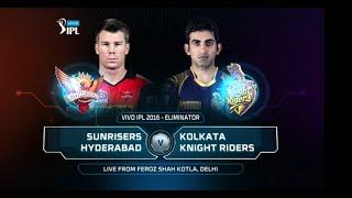 Qualifier 2  SRH vs KKR – Match Highlights   ipl 2016