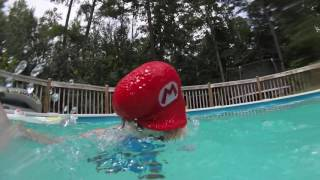 Mario goes swimming two