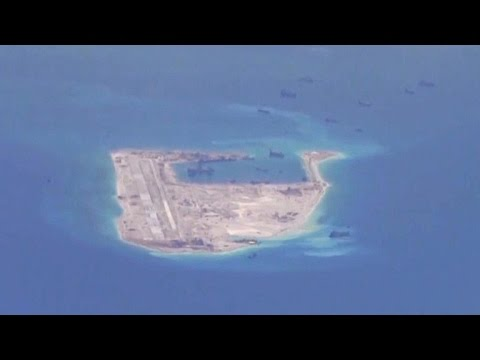 Rare look at China's artificial island-building project