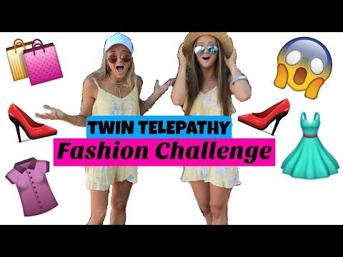 TWIN TELEPATHY Fashion Challenge!   The Rybka Twins