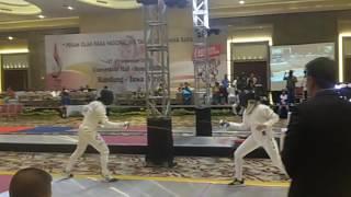 Cuplikan Video Atlet Anggar Sulsel, Isnawati Sir Idar Berlaga di PON Jabar
