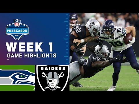 Seattle Seahawks vs. Las Vegas Raiders Preseason Week 1 2021 NFL Game Highlights