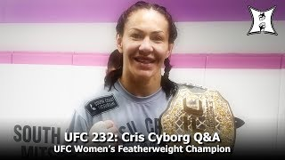 UFC 232: Featherweight Champ Cris Cyborg On Her Fight w/ Champ Amanda Nunes, Halle Berry + More!