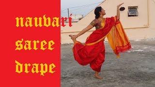 NAUVARI Saree Drape | Pinga look from Bajirao Mastani