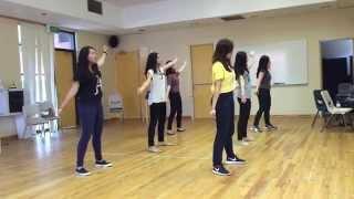 Bangkit dan Bersinar dance practice