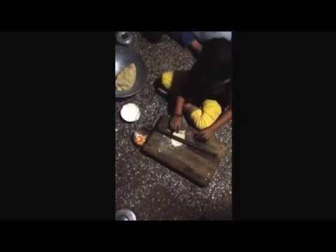 Slesha 214 making roti in village