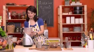 Evde Hurma Püresi ile Çikolatalı Süt Yapımı