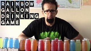 Retro Drinking Challenge: 20 Bottles of Hugs in 5 Minutes? (1.25 Gallons) | FreakEating