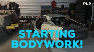 Pt.5 MKIV Supra Project! | Starting bodywork! | Cleaning shop!