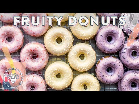 3 BAKED Fruity DONUTS for #BuzyBeez 🍩🍩🍩