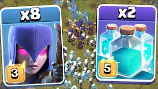 OVERLOAD THE SCREEN | Clash of clans | CLONE WARS!!!