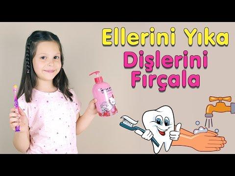Ceylin-H   Ellerini Yıka Dişlerini Fırçala Çocuk Şarkısı - Nursery Rhymes & Super Simple Kids Songs