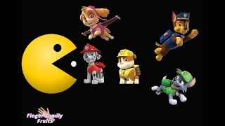 Paw Patrol Learn Colors PacMan | Paw Patrol Running away from PacMan