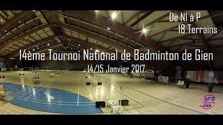 14ème Tournoi National de Badminton de Gien 2017