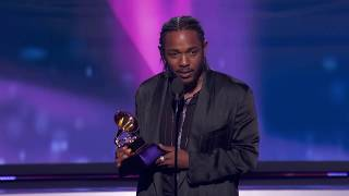 Kendrick Lamar Wins Best Rap Album | Acceptance Speech | 60th GRAMMYs